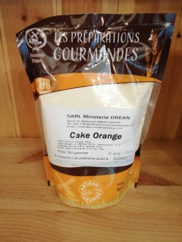Farine pour Cake Orange - Minoterie Dréan